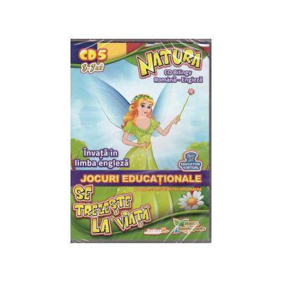 Natura se trezeste la viata - invata in limba engleza - CD cu jocuri educationale 5-7ani ( Editura: EduTeca, ISBN 9786069262108 )