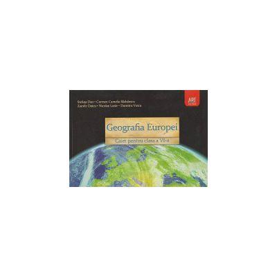 Geografia Europei Caiet pentru clasa a VI-a ( Editura: Art Grup Editorial, Autor: Steluta Dan, Carmen Camelia Radulescu, Zamfir Datcu, Nicolae Lazar, Dumitru Voicu ISBN 978-973-124-821-9 )