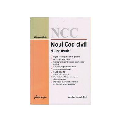 Noul Cod civil si 9 legi uzuale 4 ianuarie 2016 ( Editura: Hamangiu ISBN 978-606-27-0458-2 )