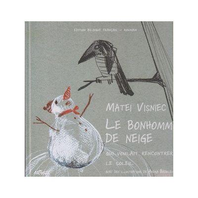 Le bonhomme de Neige qui voulait rencontrer le soleil / Omul de zapada care voia sa intalneasca soarele ( Editura: Arthur, Autor: Matei Visnec ISBN 978-606-8620-95-4 )