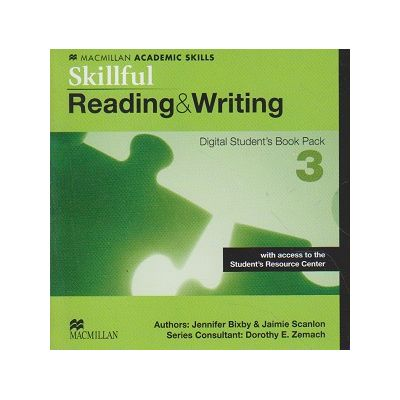 Skillful Reading & Writing Digital Student s Book Pack 3 with access to the Student s Resource Center ( Editura: Macmillan, Autor: Jennifer Bixby, Jaimie Scanlon ISBN 9780230489509 )