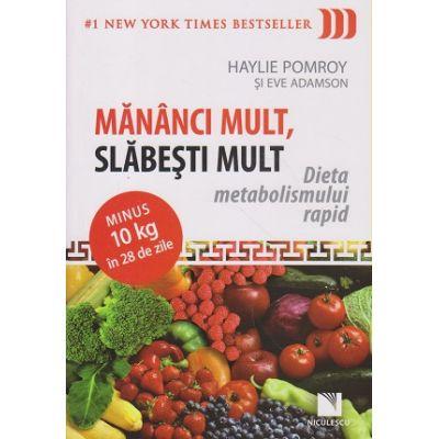 Mananci mult, slabesti mult Dieta metabolismului rapid ( Editura: Niculescu, Autor: Haylie Pomroy, Eve Adamson ISBN 9789737489609 )