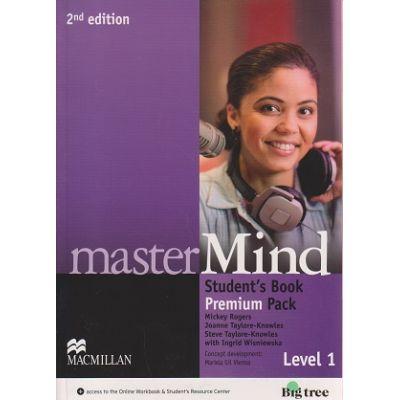 Master Mind Student s Book Premium Pack Level 1 Second Edition ( Editura: Macmillan, Autor: Mickey Rogers, Joanne Taylore-Knowles, Steve-Taylore-Knowles, Ingrid Wisniewska ISBN 978-0-230-47035-4 )