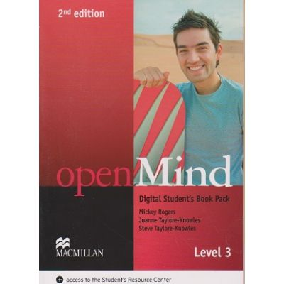 Open mind Digital Student s Book Pack Level 3 Second Edition ( Editura: Macmillan, Autor, Joanne Taylore-Knowles, Steve Taylore-Knowles ISBN 978-0-230-49517-3 )