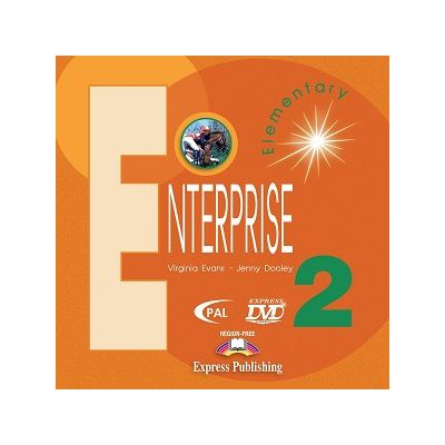 Curs limba engleză Enterprise 2 DVD ( Editura: Express Publishing, Autor: Virginia Evans, Jenny Dooley ISBN 9781845580339 )