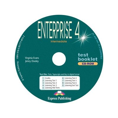 Curs limba engleză Enterprise 4 Tests CD-ROM ( Editura: Express Publishing, Autor: Virginia Evans, Jenny Dooley ISBN 9780857778932 )
