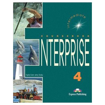 Curs limba engleză Enterprise 4 Manualul elevului ( Editura: Express Publishing, Autor: Virginia Evans ISBN 978-1-84216-821-9