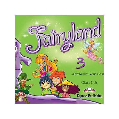 Curs limba engleză Fairyland 3 Audio CD (set 3 CD) ( Editura: Express Publishing, Autor: Jenny Dooley, Virginia Evans ISBN 9781846794001 )