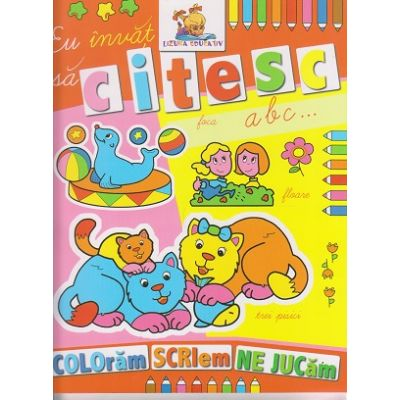 Eu invat sa citesc ABC carte de colorat ( Editura: Lizuka Educational ISBN 9786068714042 )