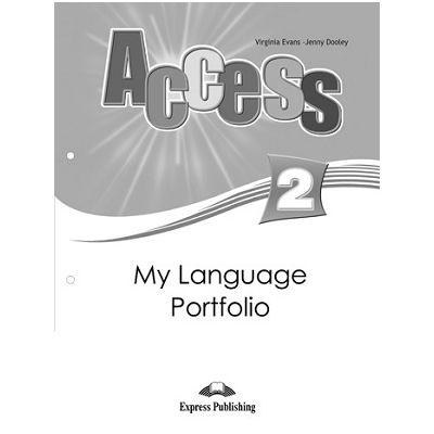 Curs limba engleza Access 2 My Language Portfolio ( Editura: Express Publishing, Autor: Virginia Evans, Jenny Dooley ISBN 978-1-84862-291-3 )