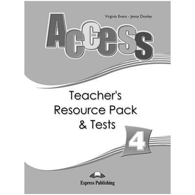 Curs limba engleză Access 4 Material adiţional pentru profesor şi teste ( Editura: Express Publishing, Autor: Virginia Evans, Jenny Dooley ISBN 9781848620346 )