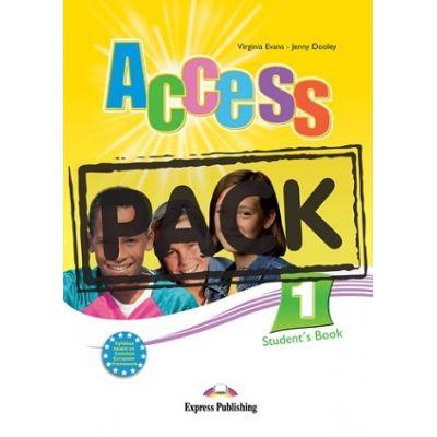 Curs limba engleza Access 1 Pachetul elevului cu ieBook ( Editura: Express Publishing, Autor: Virginia Evans, Jenny Dooley ISBN 9781780980515 )