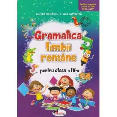 Gramatica limbii romane pentru clasa a IV-a ( Editura: Aramis, Autor: Aurelia Fierascu, Ana Lapovita ISBN 9786067064735 )