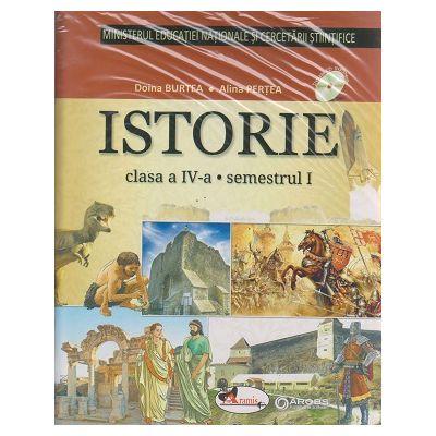 Istorie manual pentru clasa a IV-a Semestrul I + Semestrul II + CD multimedia ( Pertea ) ( Editura: Aramis, Autor: Doina Burtea, Alina Pertea ISBN 978-606-706-477 -3 )