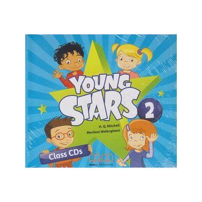 Young Stars 2 Class CD s ( Editura: MM Publications, Autor: H. Q. Mitchell, Marileni Malkogianni ISBN 9789605737382 )