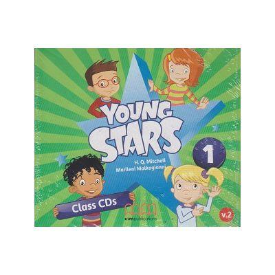 Young Stars 1 Class Cd s ( Editura: M. M. Publications, Autor: H. Q. Mitchell, Marileni Malkogianni ISBN 9786180503760 )