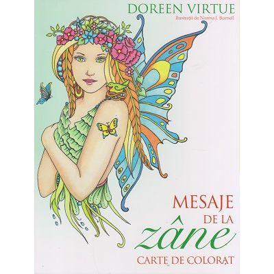 Mesaje de la Zane Carte de colorat ( Editura: Curtea Veche, Autor: Doreen Virtue ISBN 978-606-588-952-1 )