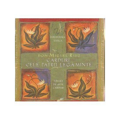 Carduri Cele patru legaminte ( Editura: Adevar Divin, Autor: Don Miguel Ruiz ISBN 9786068420295 )