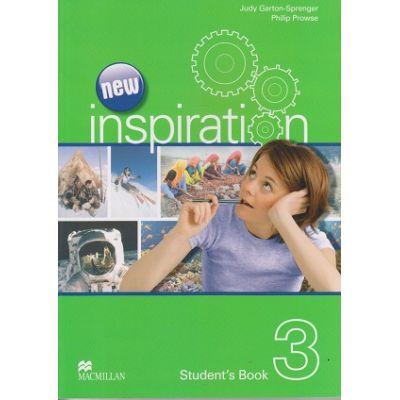 New Inspiration 3 Student's Book ( Editura: Macmillan, Autor (i): Judy Garton-Sprenger, Philip Prowse ISBN 9780230408494 )