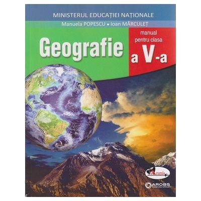 Geografie Manual pentru clasa a 5 a +CD ( Editura: Aramis, Autor (i): Manuela Popescu, Ioan Marculet ISBN 9786067066197 )
