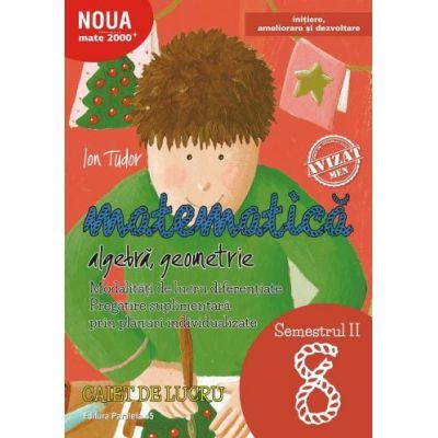 Matematica - Initiere, ameliorare si dezvoltare: Algebra, Geometrie. Caiet de lucru Clasa a VIII-a Semestrul 2 ( Editura: Paralela 45, Autor: Ion Tudor, ISBN 978-973-47-2674-5 )
