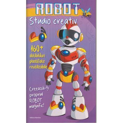 Robot. Studio creativ. 160+ abtibilduri reutilizabile ( Editura: Nomina, Autor: Cecile Marbehant, ISBN 9786065357587)