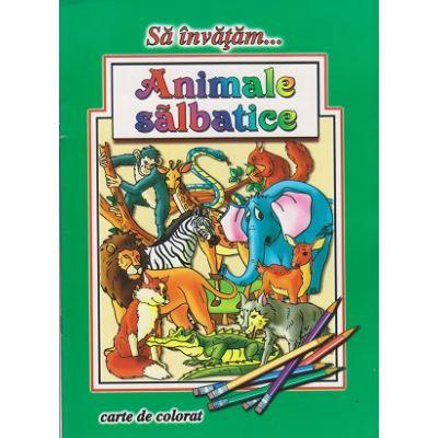 Sa invatam... Animale salbatice, carte de colorat ( Editura: Roxel ISBN 9786067530681 )