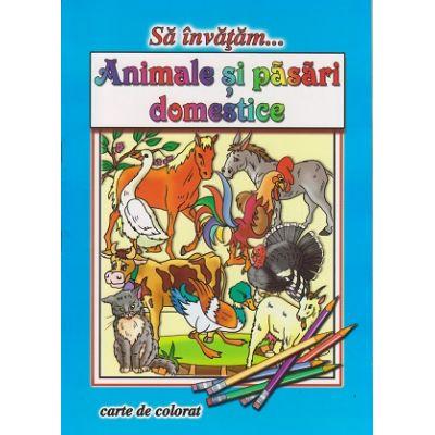 Sa invatam... Animale si pasari domestice, carte de colorat ( Editura: Roxel ISBN 978-606-753-059-9 )