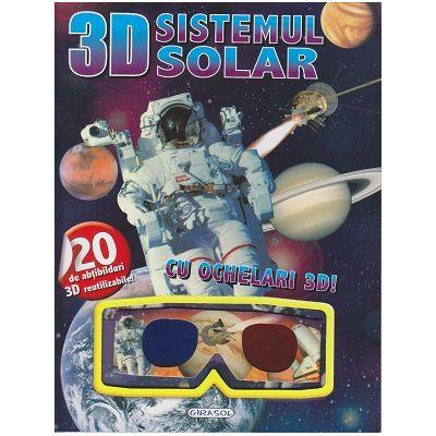 Sistemul solar cu ochelari 3D+ ABTIBILDURI( Editura: Girasol ISBN 9786065259157)