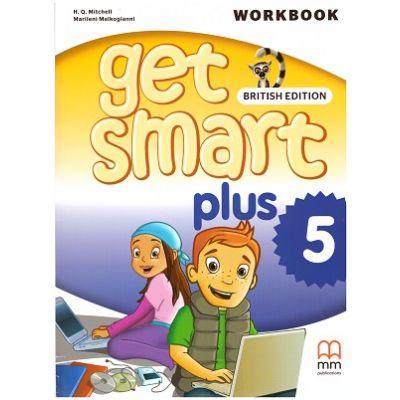 Get Smart Plus 5 Workbook + CD-ROM British Edition ( editura: MM Publications, autori: H. Q. Mitchell, Marileni Malkogianni, ISBN 978-618-05-2229-7)