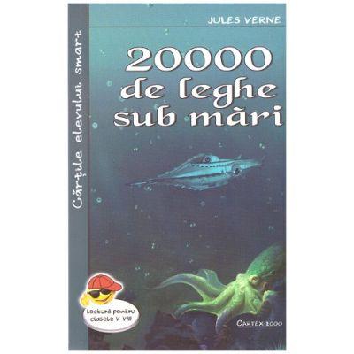 20 000 de leghe sub mari ( Editura: Cartex 2000, Autor: Jules Verne ISBN 9789731047850 )