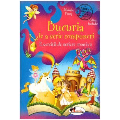 Bucuria de a scrie compuneri. Exercitii de scriere creativa ( Editura: Aramis, Autori: Marcela Penes, Celina Iordache ISBN 978-606-009-033-5 )