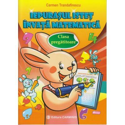 Iepurasul istet invata matematica. Clasa pregatitoare (editura Carminis, Autor: Carmen Trandafirescu ISBN 9789731232959)