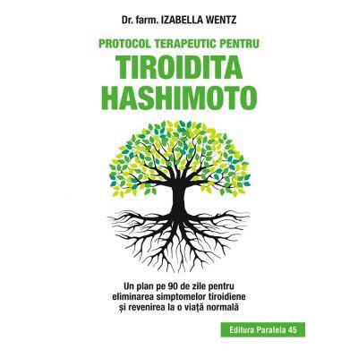 Protocol terapeutic pentru tiroida Hashimoto. Un plan de 90 de zile pentru eliminarea simptomelor tiroidiene si revenirea la o viata normala ( Editura: Paralela 45, Autor: Dr. farm. Izabella Wentz ISBN 9789734730124 )