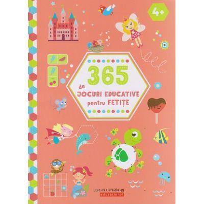 365 de jocuri educative pentru fetite 4+ ( Editura: Paralela 45, Autor: *** ISBN 9789734730216 )