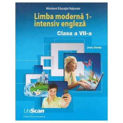 Limba moderna 1 - intensiv engleza clasa a 7 a ( Editura: Express Publishing, Autor: Jenny Dooley ISBN 978-1-4715-8312-4 )