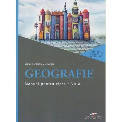 Geografie, manual pentru clasa a VII-a ( Editura: CD Press, Autor: Marius-Crsitina Neacsu ISBN 978-606-528-461-6 )