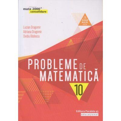 Probleme de matematica pentru clasa a X-a: consolidare (Editura: Paralela 45, Autori: Lucian Dragomir, Adriana Dragomir, Ovidiu Badescu ISBN 978-973-47-2798-8)