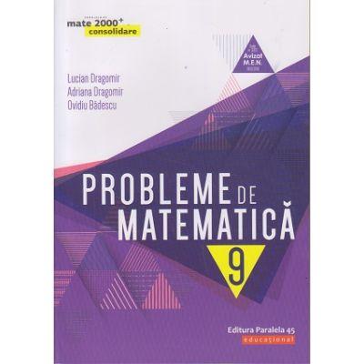 Probleme de matematica pentru clasa a IX-a: consolidare (Editura: Paralela 45, Autori: Lucian Dragomir, Adriana Dragomir, Ovidiu Badescu ISBN 978-973-47-2776-6)