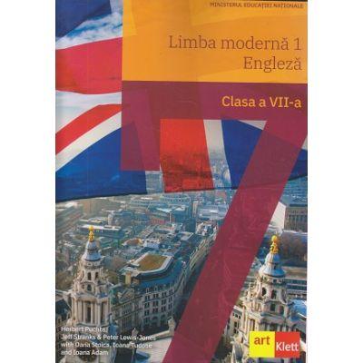 Limba modernă 1 - Engleză clasa a VII-a(Editura: Art, Autor(i): Herbert Puchta, Jeff Stranks, Peter Lewis-Jones, Oana Stoica, Ioana Tudose, Ioana Adam ISBN 9786068964621 )