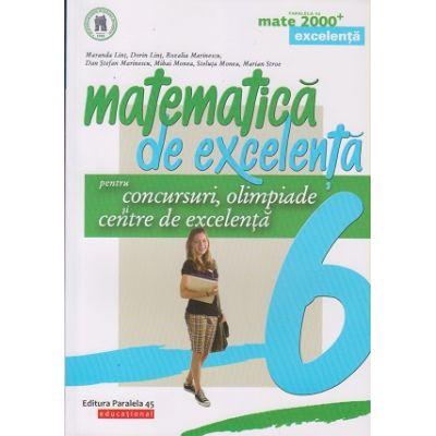 Matematica de excelenta clasa a 6 a (Editura: Paralela 45, Autor: Maranda Lint ISBN 9789734730483)