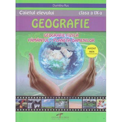 Geografie caietul elevului pentru clasa a 9 a (Editura: CD Press, Autor: Dumitru Rus ISBN 978-606-528-308-4)