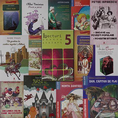 Pachet promotional pentru vacanta elevilor. CLASA a V-a. Contine 14 carti ale Editurii Astro.