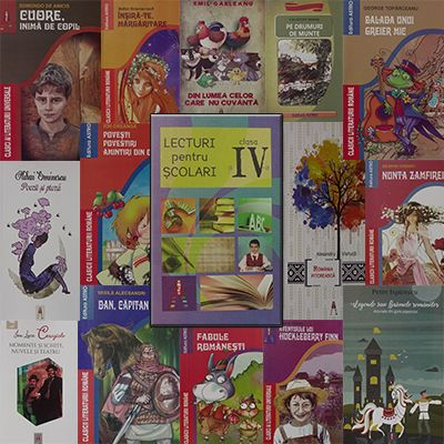 Pachet promotional pentru vacanta elevilor. CLASA a IV-a. Contine 15 carti ale Editurii Astro.