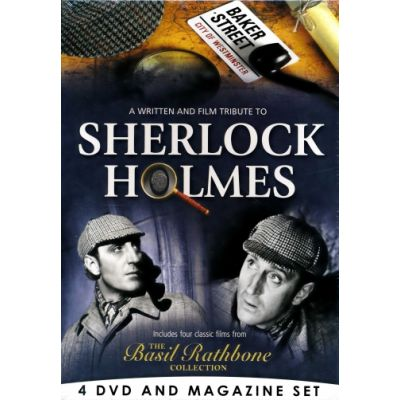 Sherlock Holmes - The Basil Rathbone Collection - 4 DVD & Bookazine BOXSET