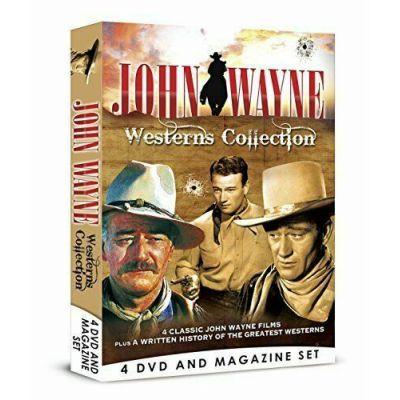 John Wayne Westerns Collection - 4 DVD Bookazine BOXSET