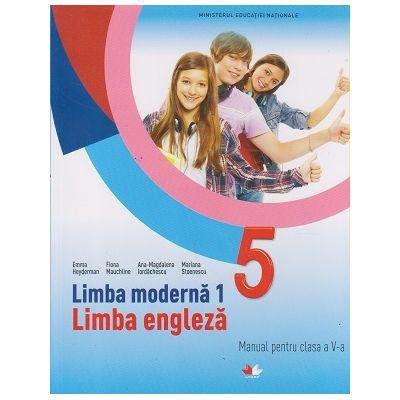 Limba moderna 1 Limba engleza Manual pentru clasa a V-a (Editura: Litera, Autori: Emma Heyderman, Fiona Mauchline, Ana-Magdalena Iordachescu, Mariana Stoenescu ISBN 9786063320224)