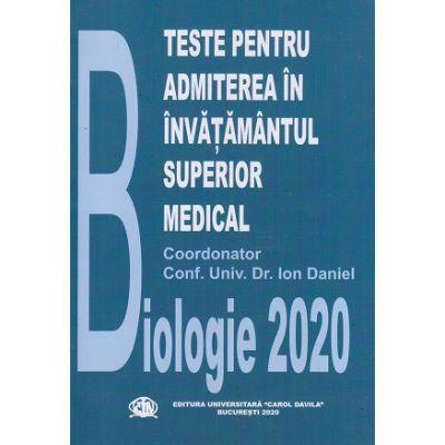 Teste pentru admiterea in invatamantul superior medical Biologie 2020