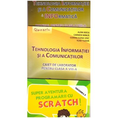 Pachet Tehnologia Informatiei si a Comunicatiilor clasa a VIII-a + SCRATCH