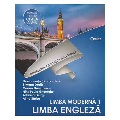 Limba Engleza Manual pentru clasa a 5 a +CD(Editura: Corint, Autor(i): Diana Ionita, Simona Drula, Corina Dumitrescu, Niky Paula Gheorghe, Adriana Giurgi ISBN 9786069404423)